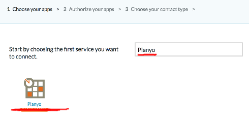 Q313: I'd like to use PieSync to synchronize Planyo contacts with